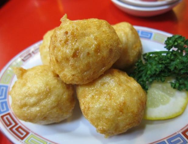 中国菜館 奥快餐 イカ団子