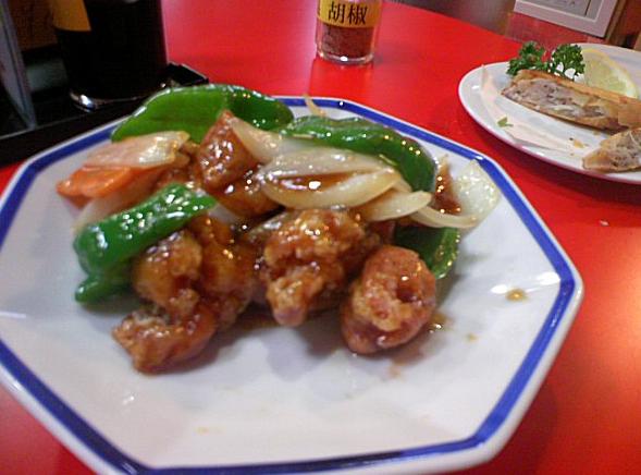 中国菜館 奥快餐 酢豚