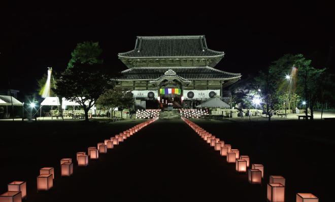 周防国分寺 ライトアップ